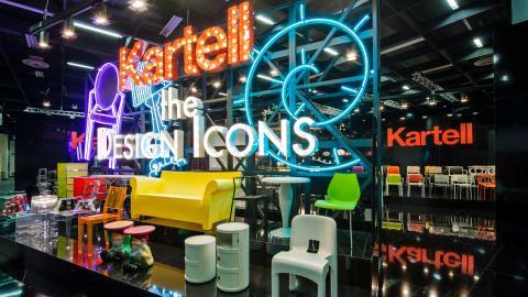 Bright colours, plastic furniture