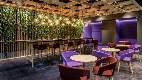 purple, lounge, design