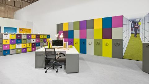 colored office furniture