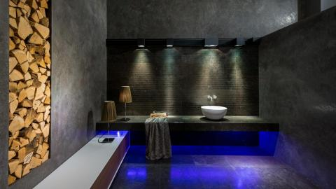 blue light, wood, bathroom